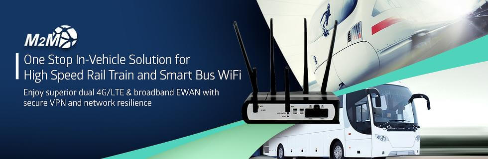 M500-D –Dual LTE Modem 4G Router and WiFi Hotspot with optional GPS and  Cloud Management