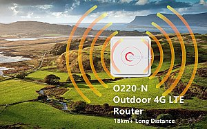 O220 Long Range Outdoor IP67 4G LTE 11n WiFi Router POE