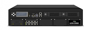 LOG-2000 - High performance Syslog server, 8GE 2TB HDD up to 2 million logs per hour